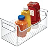 iDesign Fridge Plastic Storage Organizer Bin with Handles, Clear Container for Food, Drinks, Produce, Pantry…