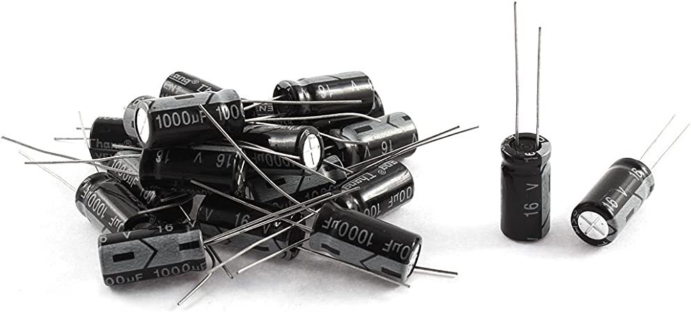 Lot 5x chemical capacitors 1000µf 1000mf 1000uf 16v radial 105 °