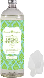Florence de Dampierre 64 Load, All-Natural Savon de Marseille Soap, Liquid Laundry Detergent, 32 oz. Seagrass