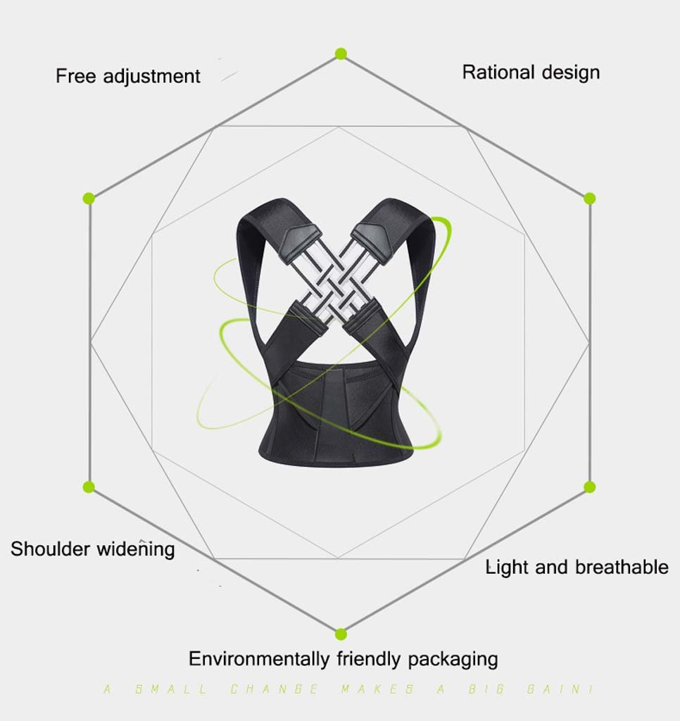 GAIHU Posture Corrector Back Shoulder Waist Support Breathable Waistband For Child Student Posture Correction,XL by GAIHU (Image #2)