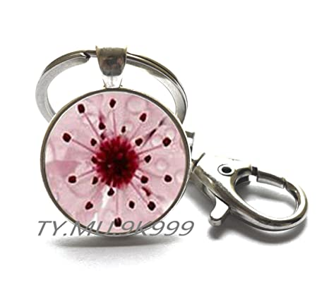 Amazon.com: Sakura Blossom llavero, llavero, de cerezo ...