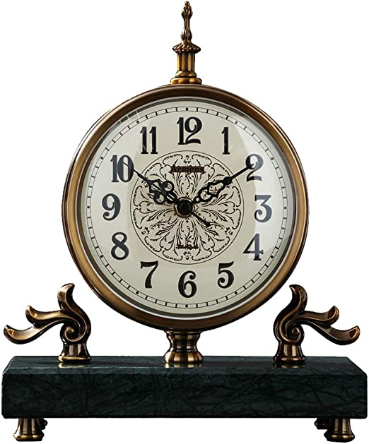 KJH Reloj de Mesa, Mantel Relojes, Silent Tictac Retro Europea No ...