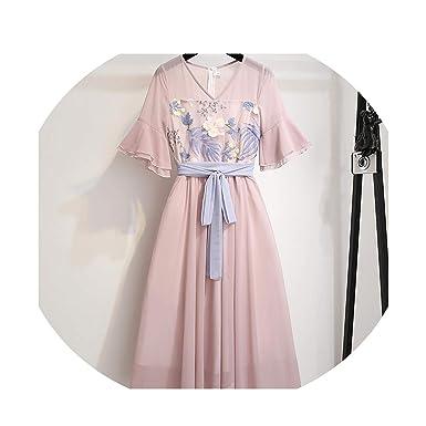 Falda de Hada de Verano para Mujer, de Gasa modificada - Rosa ...