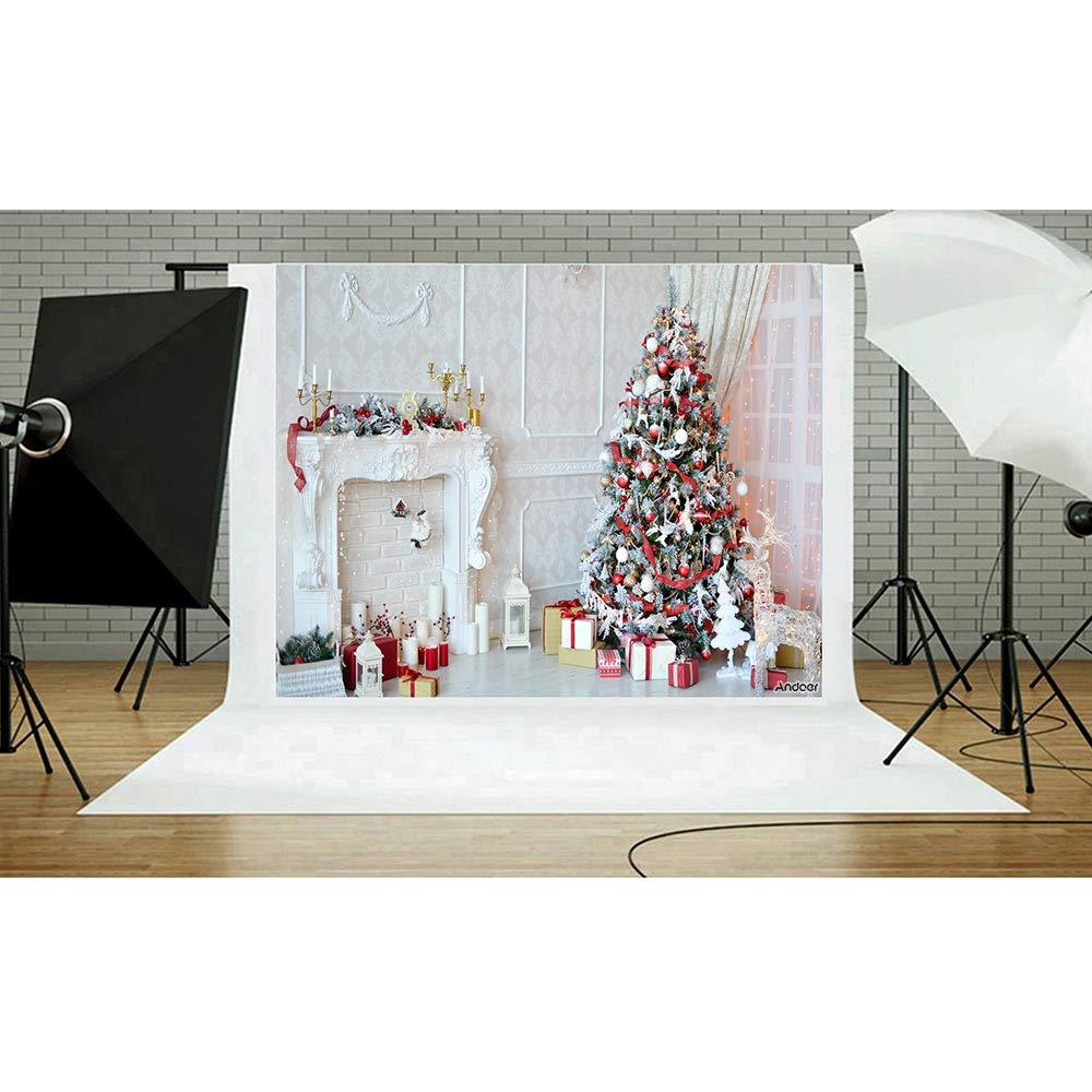 7 1.5 m Andoer Fondo de Navidad 2.1 5ft Ciervo Chimenea Regalo Fotograf/ía de Fondo Ni/ños Ni/ños Estudio de Fotograf/ía Pros