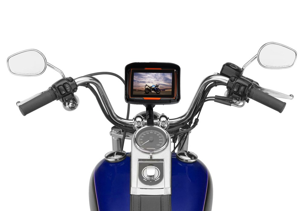 All Terrain 4.3 Inch Motorcycle GPS Navigation System 'Rage' - Waterproof, 4GB Internal Memory, Bluetooth ICE ELECTRONICS CA9052