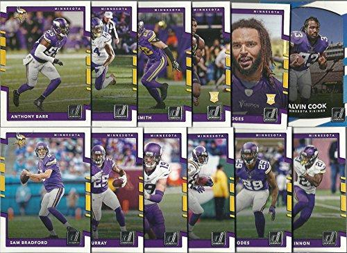 Minnesota Vikings Team Set - 2016 & 2017 Panini Donruss Football Minnesota Vikings 2 Team Set Lot Gift Pack 24 Cards W/Rookies