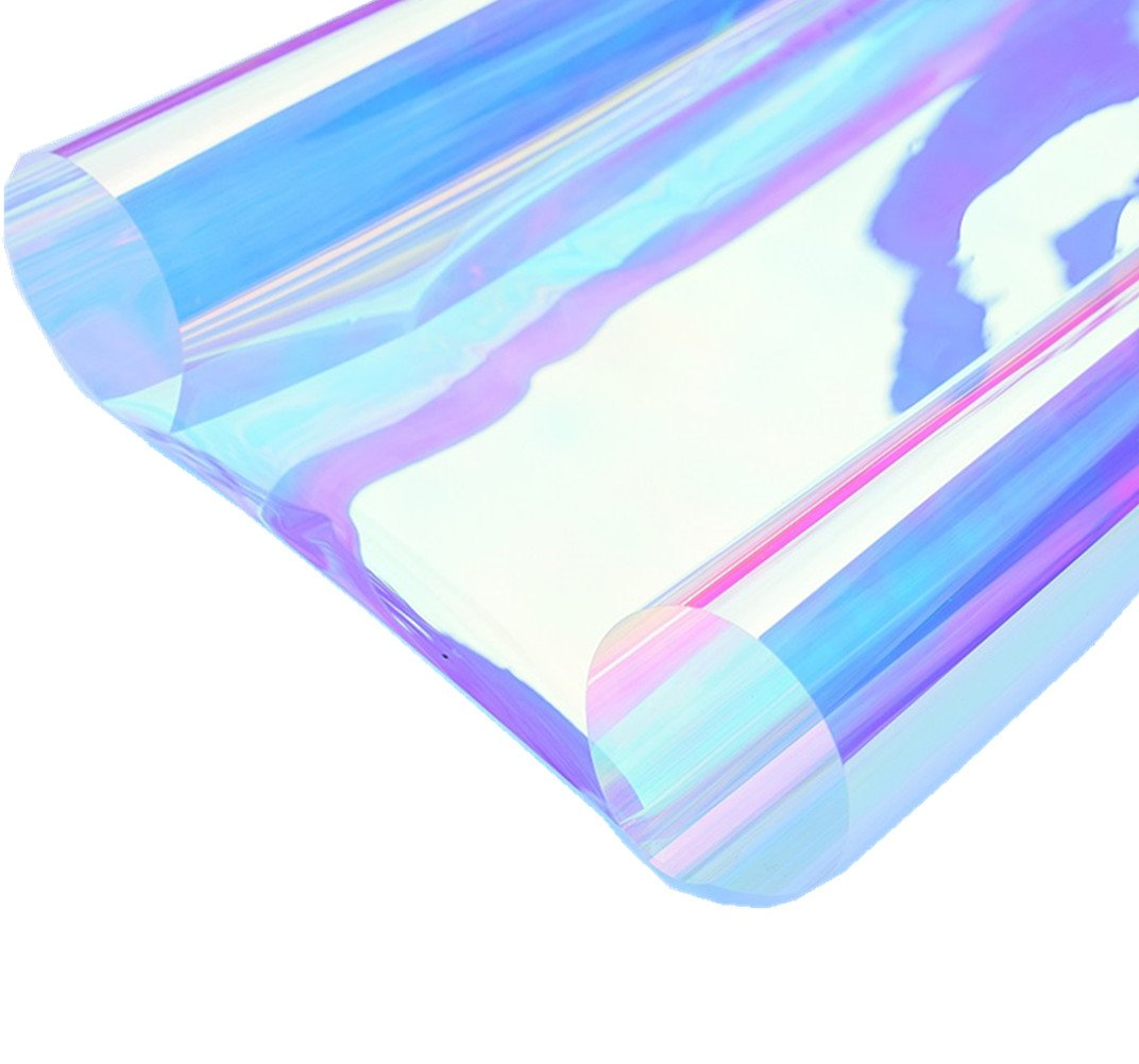 REDODECO BESTERY Adhesive Window Films Holographic Privacy Window Tint Stained Sheets Window Clings Heat Control Anti UV 13inch by 39 Inch