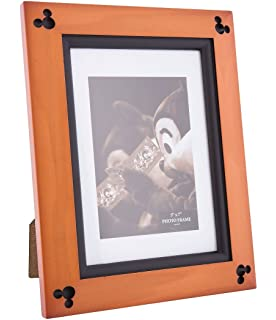 disney parks exclusive mickey mouse beveled cherry wood 5 x 7 photo picture frame - Disney Picture Frames