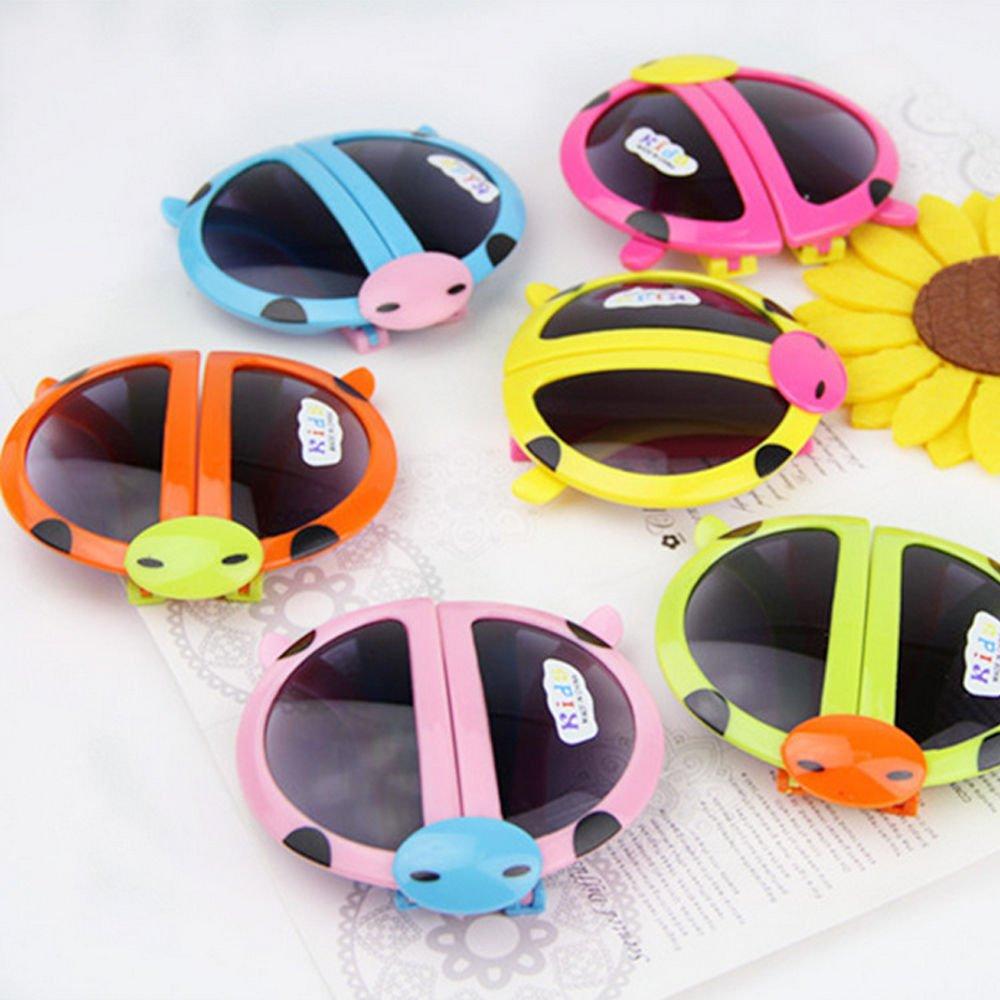 Novelty Baby Kids Boys Girls Foldable Cute UV400 Ladybug Sunglasses Goggles Gift