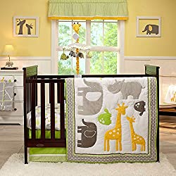Carter's Animals Collection 4 Piece Crib Set Boy or girl - unisex