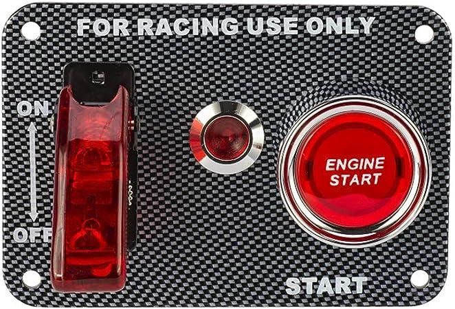 Kkmoon Auto Schalter Panel 12 V Kohlefaser Zündschalter Start Schalter Panel Ein Aus Taster Diy 3 Toggle Für Sport Konkurrenzfähiges Auto Rv Auto