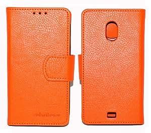 Sirius Premium Quality PU Leather Wallet Jelly Case Cover For Samsung Galaxy Nexus Prime i9250 i525 (Orange)