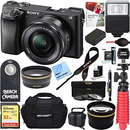 Sony ILCE-6300 a6300 4K Mirrorless Camera w/16-50mm Power Zo