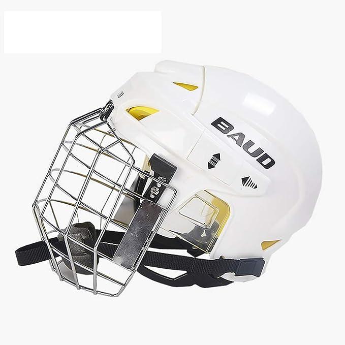 DYM258 Casco Profesional de Hockey sobre Hielo Deportivo con Jaula ...
