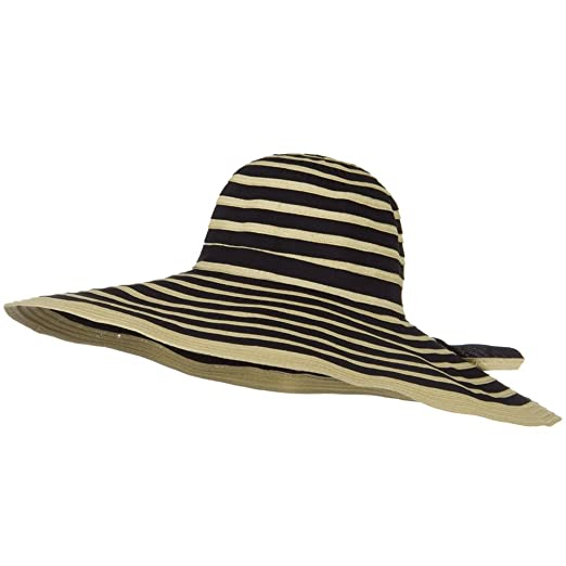 4ea75001a Jeanne Simmons Ribbon 7 Inch Brim Bendable Wire Brim Hat - Tan Black ...