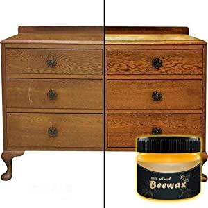 Wood Seasoning Beewax, Cleaning Wax Complete Solution Furniture Care Beeswax Home Cleaning Renew Cutting Boards, Woods, Bamboo, Wooden Surfaces (Yellow-85g)
