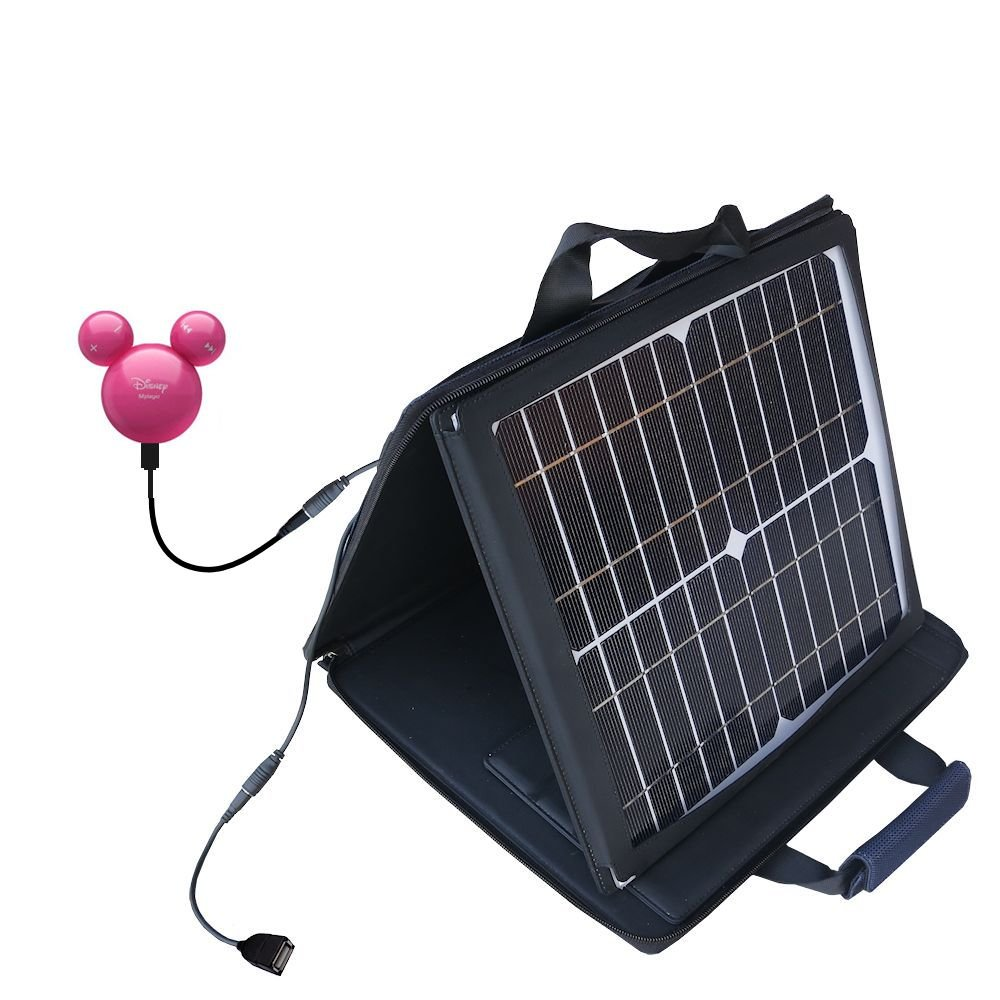 Gomadic SunVolt High Output Portable Solar Power Station designed for the iRiver Mplayer - Can charge multiple devices with outlet speeds by Gomadic
