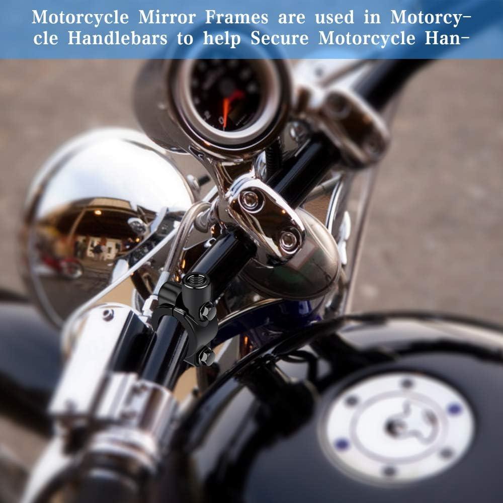10 MM 3 Piezas de Soporte de Motocicleta Soporte de Espejo Abrazaderas de Montaje de los Espejos del Manillar para Motocicleta y Bicicleta Abrazaderas de Montaje de Espejo