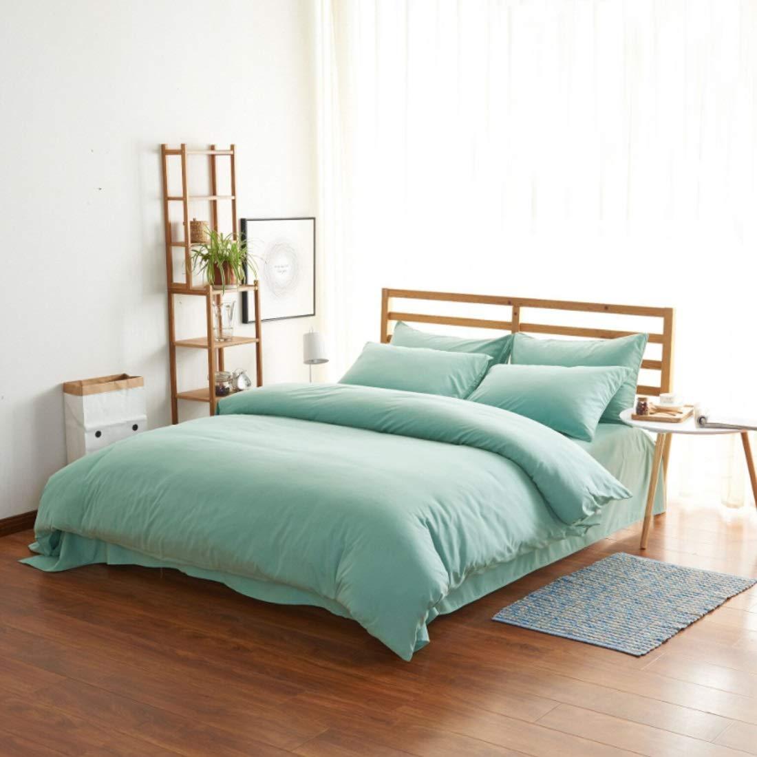 方朝日スポーツ用品店 家の内装のための寝具の4つの綿の高級高密度のブラシを掛けた枕カバーの4つのセット (色 : オレンジ, サイズ : 150*200CM) B07RRPJ6R2