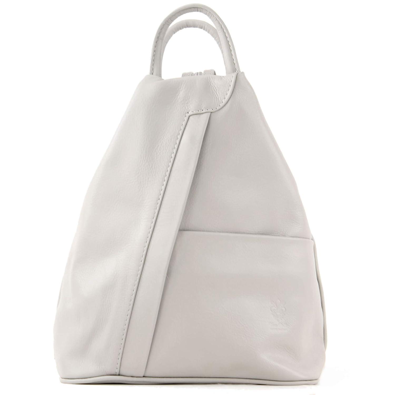 modamoda de – T180 – ital dam ryggsäck väska nappaleder Kieselgrå