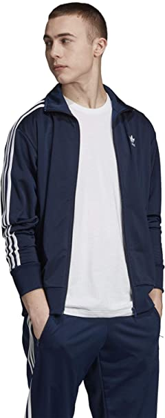 Adidas Sweatjacke Herren FIREBIRD TT ED6070 Dunkelblau, Größe:XXL