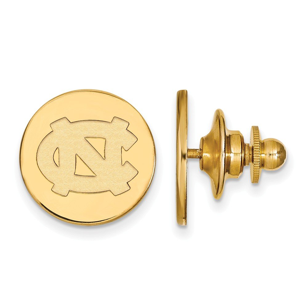 Solid 14k Yellow Gold University of North Carolina Tie Tac by Sonia Jewels (Image #3)