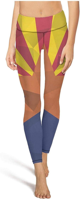 Womens Yoga Pants Flag of Arizona United States Gay Light Long Yoga Pants Yoga Leggings with Pockets