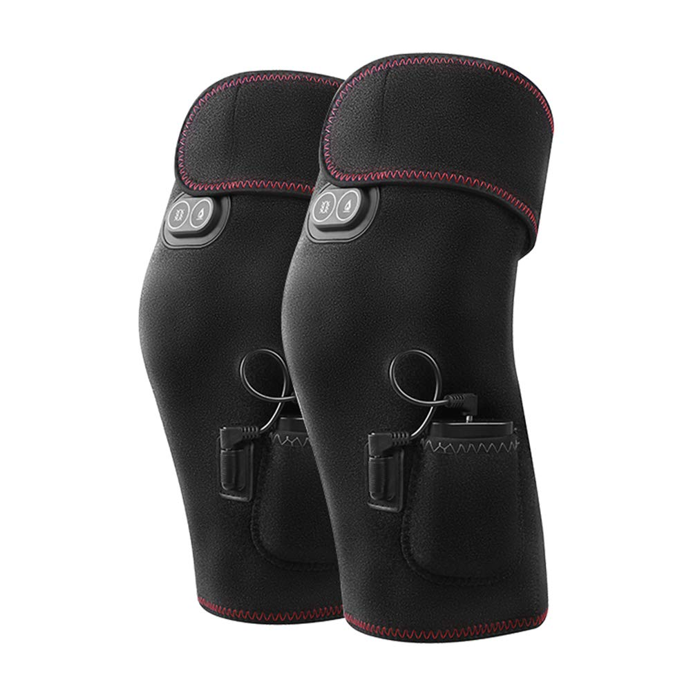 TY BEI Kneepad Electric Heating Knee Pads Men and Women Rechargeable Joints to Keep Warm Knee Physiotherapy Heat Pack Knee Pads 54X39X29 @@ (Size : No Vibration Massage)
