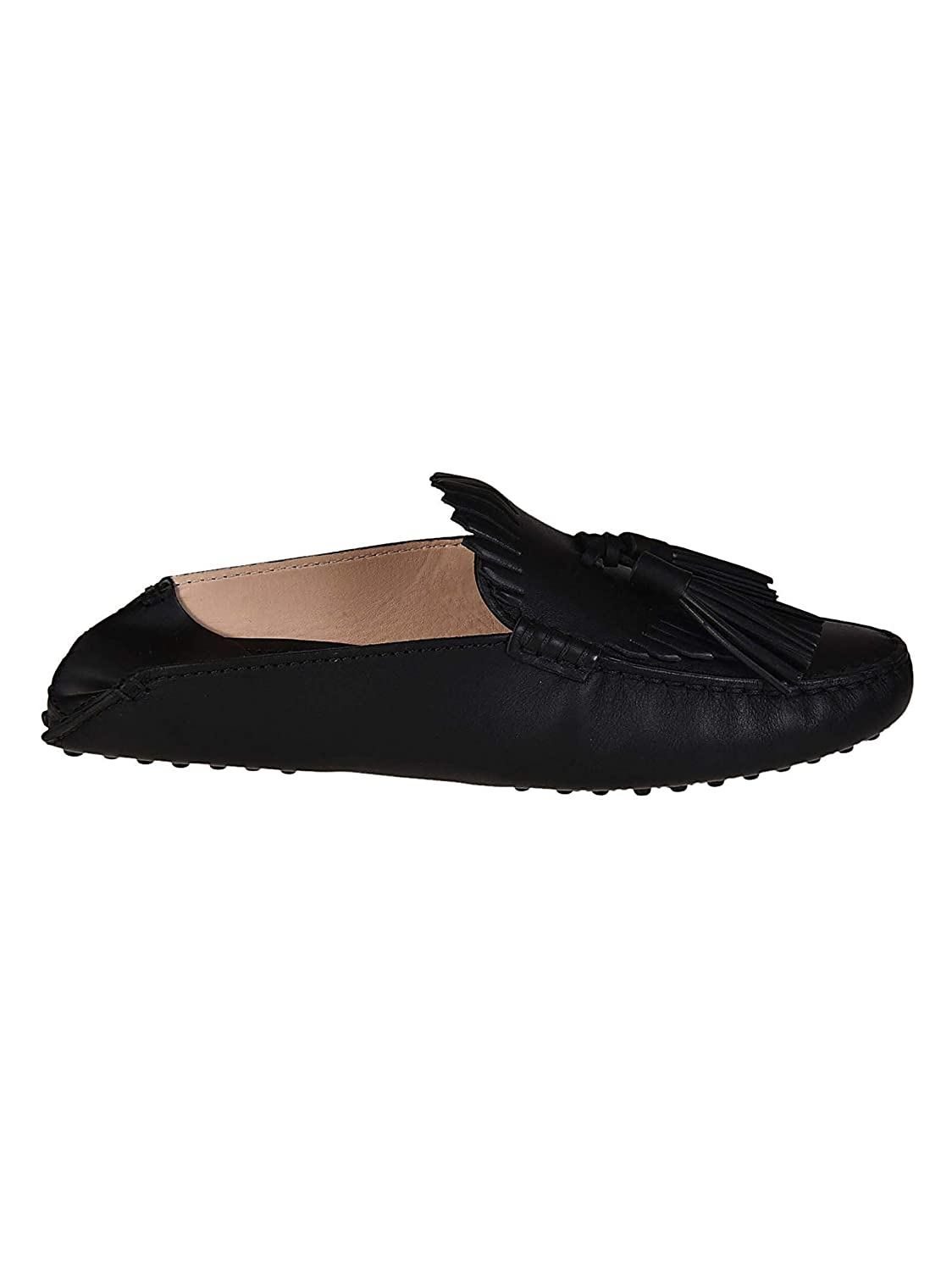 - Tod's Women's XXW00G0X070NB5B999 Black Leather Loafers