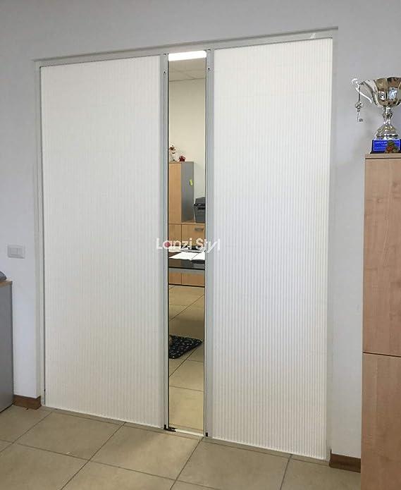 Puerta separadora con fuelle de tejido plisado tipo plegable (a medida).: Amazon.es: Hogar