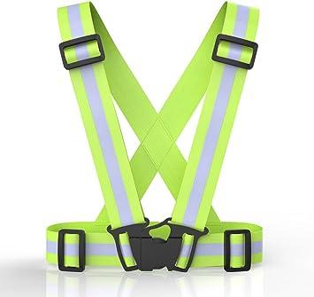 alta visibilidad ajustable arnés elástica chaleco reflectante de ...