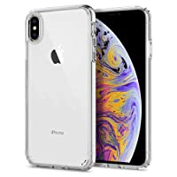 Spigen Ultra Hybrid Cover iPhone Xs Max, 6.5 inch Cover iPhone Xs Plus Tecnologia Air Cushion e Hybrid Drop Protection per iPhone Xs Max iPhone Xs Plus - Crystal Clear (065CS25127)