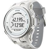 [エプソン] 腕時計 リスタブルジーピーエス GPSランニングウォッチ 脈拍計測 J-300W ホワイト