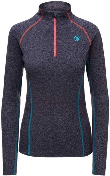 Ternua ® Alma 1/2 Zip LS W - Camiseta Mujer: Amazon.es: Deportes y aire libre