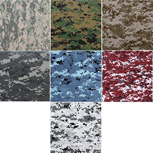Cotton Sky Blue Camouflage - 1