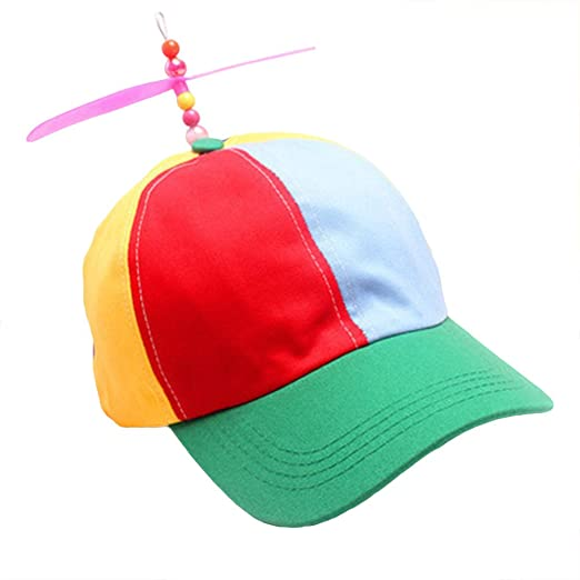 LUOEM Children Baseball Hats Fun Propeller Hat Funny Sun Hat for ... 93c379fe2cc