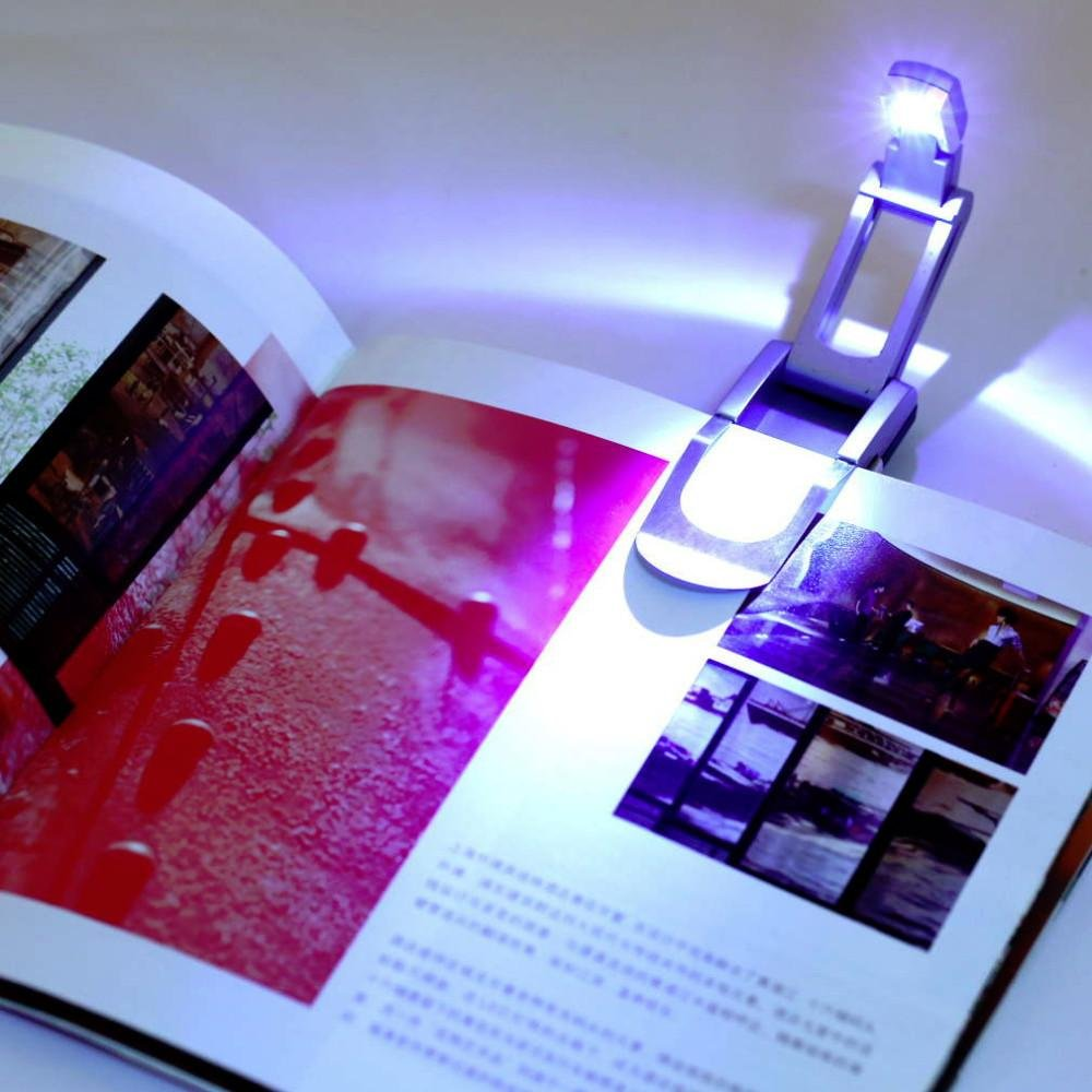 Robotic Foldable Mini Reading In Bed Light Clip On Led Booklight Boyz Toys