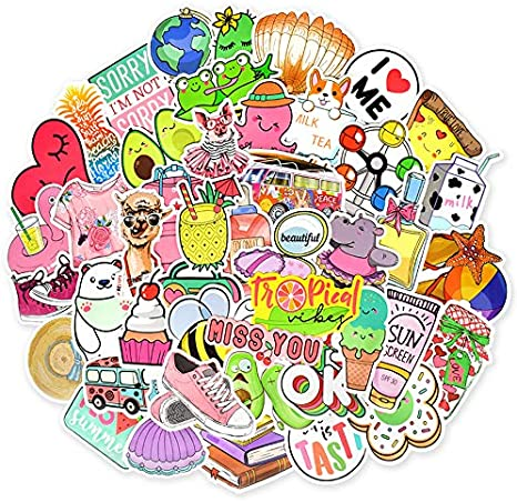 Stickers Pack Impermeable Lindo Vinyl Stickers Pack para port/átil con Botella de Agua para ni/ñas Adolescentes Dragon Ball