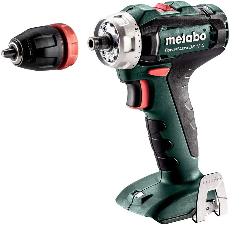 metabo 601037890 601037890-Taladro Atornillador a bateria 12V Ah Li-Ion PowerMaxx BS 12 Q, 1 V, Negro