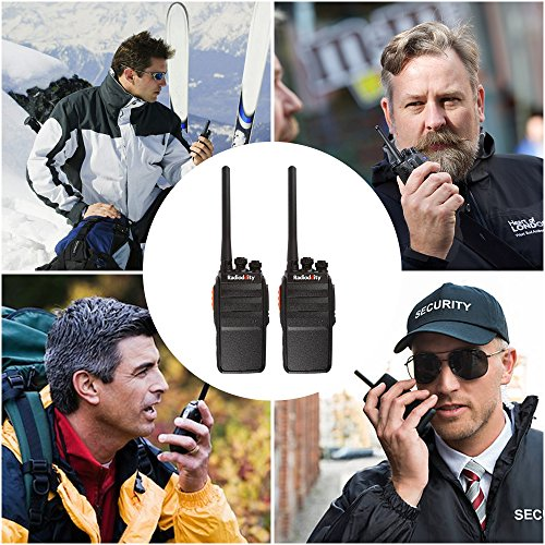 Radioddity R2 Advanced Two Way Radio UHF 400-470MHz 16 CH Scrambler VOX Rechargeable Long Range Standby time Walkie Talkies with USB Desktop Charger + Earpiece (Pack of 2) by Radioddity (Image #5)