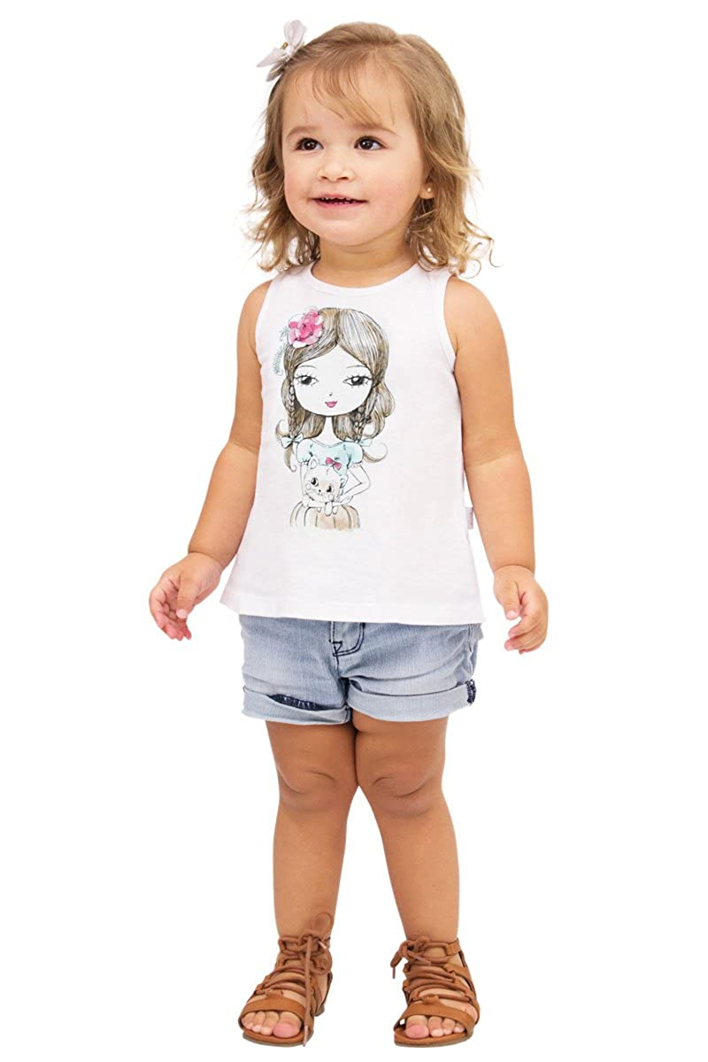 Pulla Bulla Baby Girl's Graphic Tank Top BG34602