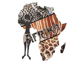 Graz Design Wandsticker Wandtattoo Afrikanische Welt Für Wohnzimmer Afrika  Frau Muster Deko (68x57cm)