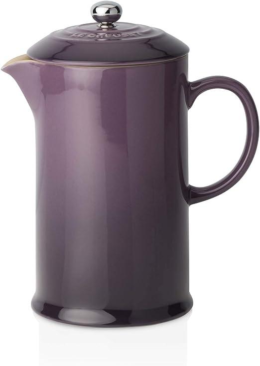 LE CREUSET - Cafetera de émbolo de gres, 750 ml, Color Cassis ...