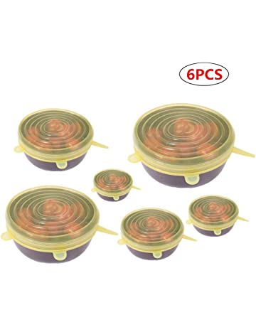 Película del abrigo del silicón 6Pcs para la tapa de las tapas del estiramiento de la