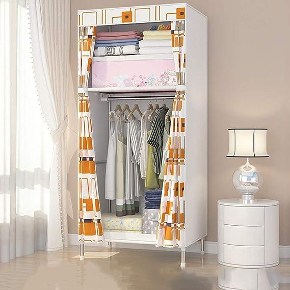 Guardarropa GX Multifuncional Armario de Tela Simple, Moderno y Simple económico Dormitorio Armario de Almacenamiento de Acero Sola Asamblea (Color : Tartán): Amazon.es: Hogar