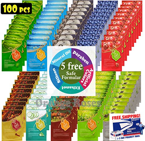 entel-100-pcs-combo-pack-premium-korean-essence-facial-mask-sheet-10-types-x-10-pcs-five-chemical-fr