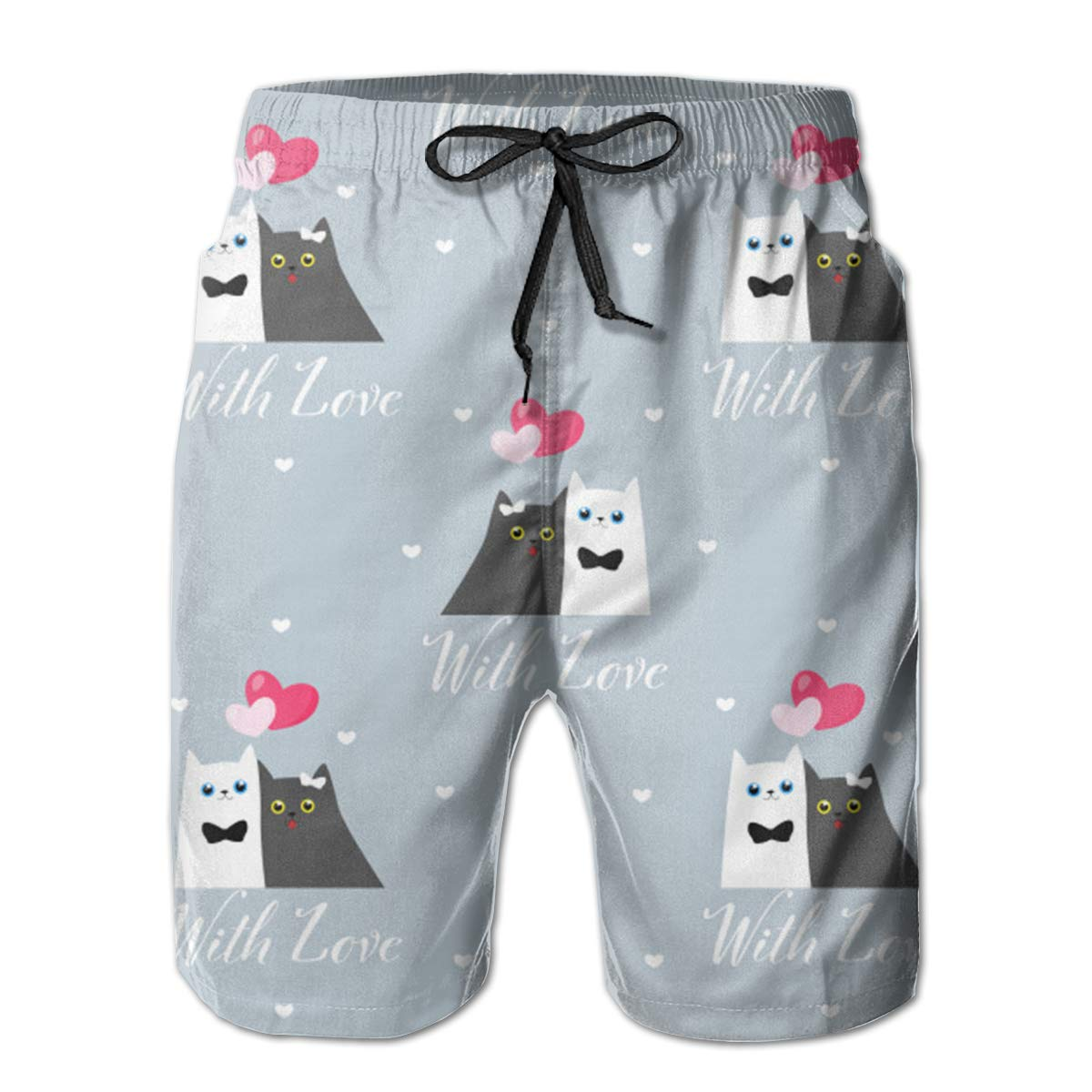 with Love Swim Shorts Mens Swim Trunks Beach Shorts Board Shorts