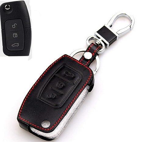 Happyit Cuero Genuino Plegado Clave Cubierta Caso para Ford nuevo Fiesta Ecosport foco 2 MK2 2012