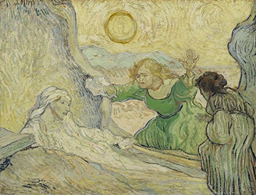 Van Gogh レンブラント後ラザロの調達 The Raising Of Lazarus After Rembrandt キャンバス複製画 60X40cm 人物 絵画 完全に立体に複製 3D 印刷 美術品 部屋 壁掛け 木枠なしの商品画像