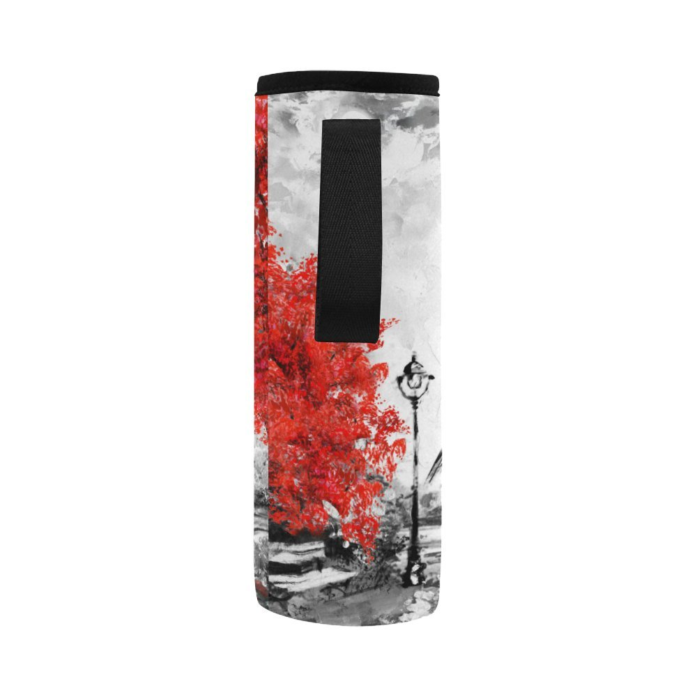 InterestPrint Eiffel Tower Lover Neoprene Water Bottle Sleeve Insulated Holder Bag 16.90oz-21.12oz, Paris Oil Painting Sport Outdoor Protable Cooler Carrier Case Pouch Cover with Handle by InterestPrint (Image #4)